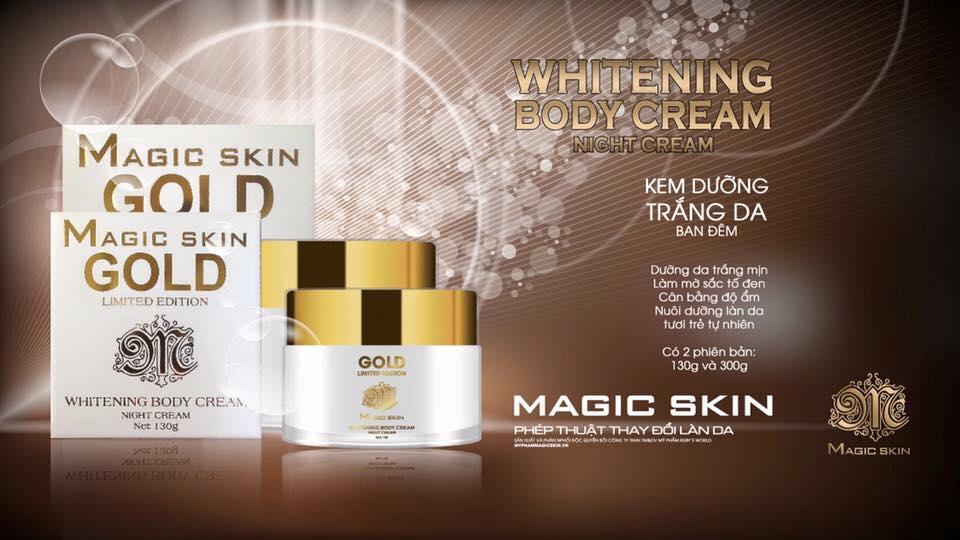 Kem Body Đêm Magic Skin Whitening Body Cream