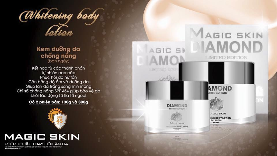Kem Body Ngày Magic Skin Whitening Body Lotion