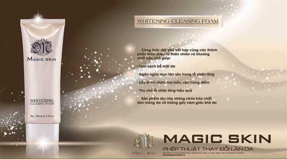 sữa rửa mặt magic skin
