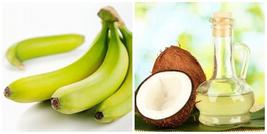 Công thức dưỡng da từ chuối và dầu dừa